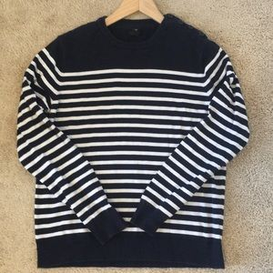 Striped H&M Sweater With Shoulder Buttons